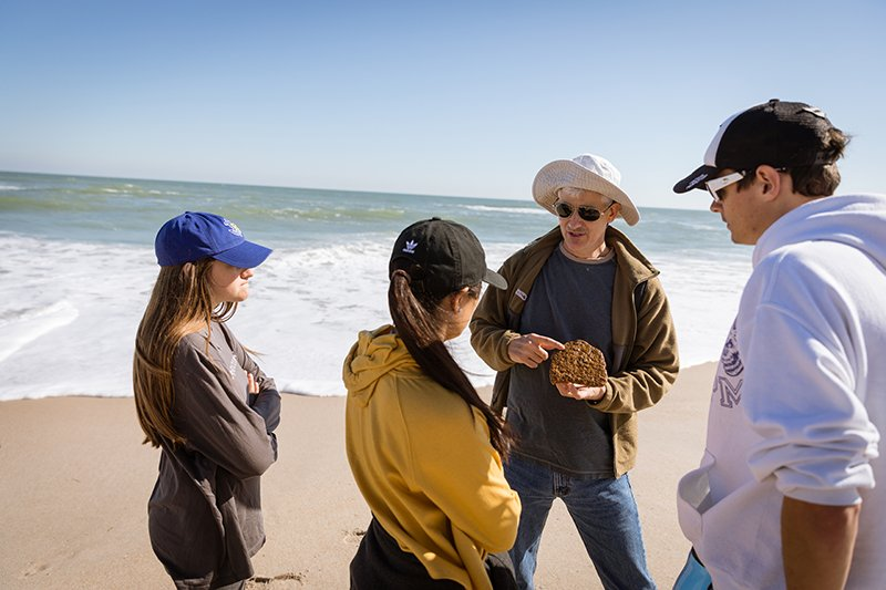 Students learn about environmental studies at Florida's Canaveral National Seashore